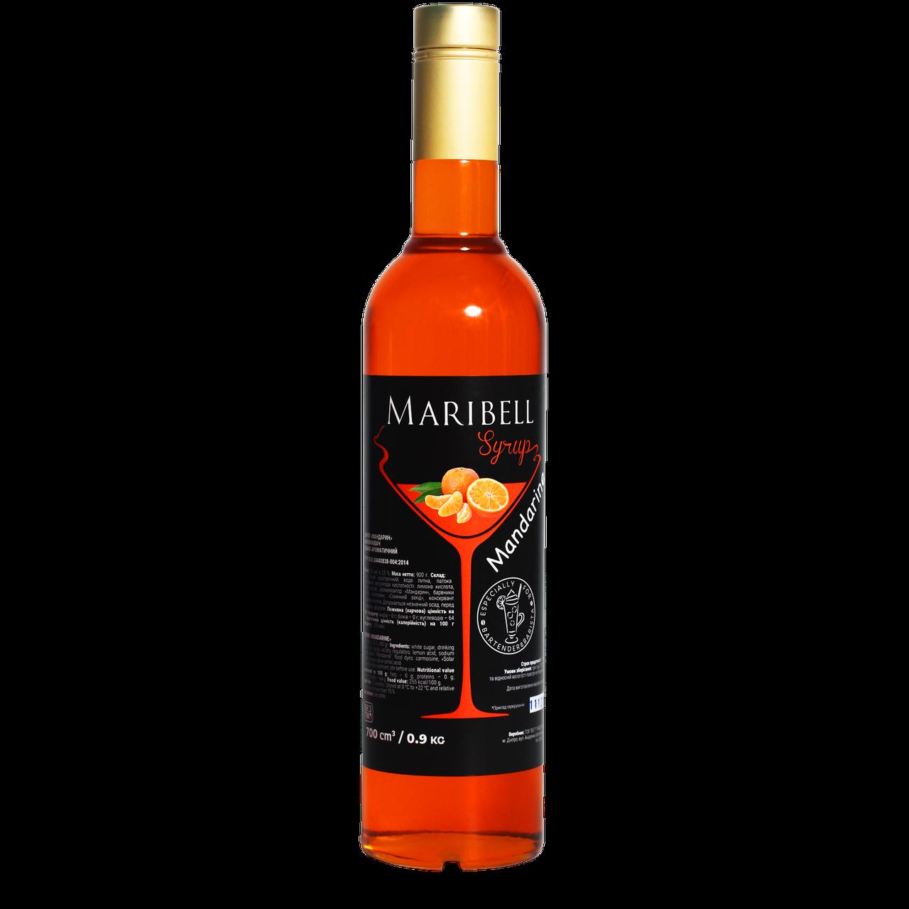 "Сироп коктейльний Maribel ""Мандарин"" 700мл"