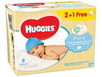 Влажные салфетки Huggies Pure 3x56 шт