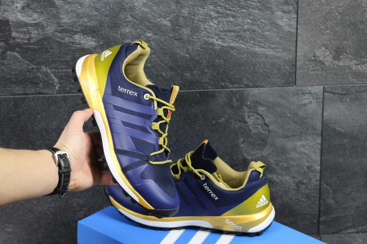 Adidas Terrex Boost синие мужские кроссовки (Реплика ААА+) - купить ... d5ea057b4dc