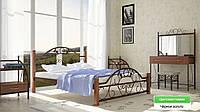 """Кровать металлическая на деревянных ногах """"Франческа"""""""