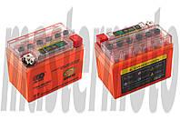 Аккумулятор 12V 4А   гелевый  оранжевый с индикатором заряда   OUTDO