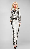 Костюм брючный 440, женский брючный костюм, белый костюм, нарядный костюм