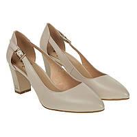 Туфли женские Sufinna (качественные, кожаные, бежевые, удобные)