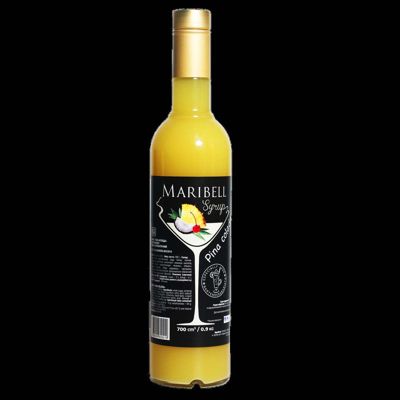 """Сироп коктейльний Maribell """"Піно-колада"""" 700мл"""