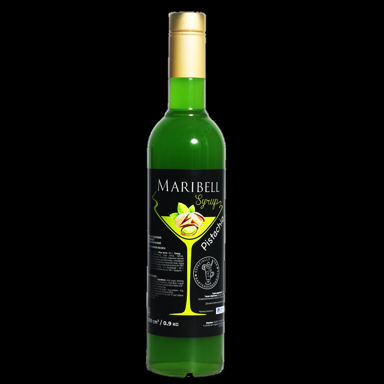 """Сироп коктейльний Maribel """"Фісташка"""" 700мл"""