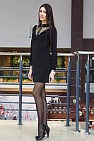 Стильное короткое платье с сеткой в горох, фото 1