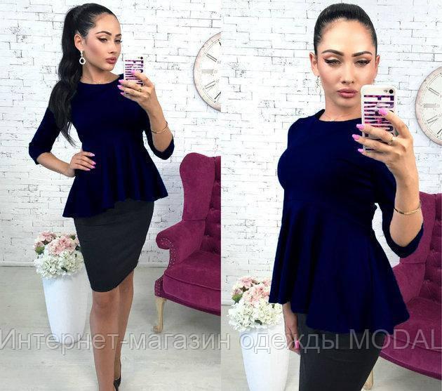 24294b56eda Женская блуза-кофта с баской - Интернет-магазин одежды MODAL в Киеве