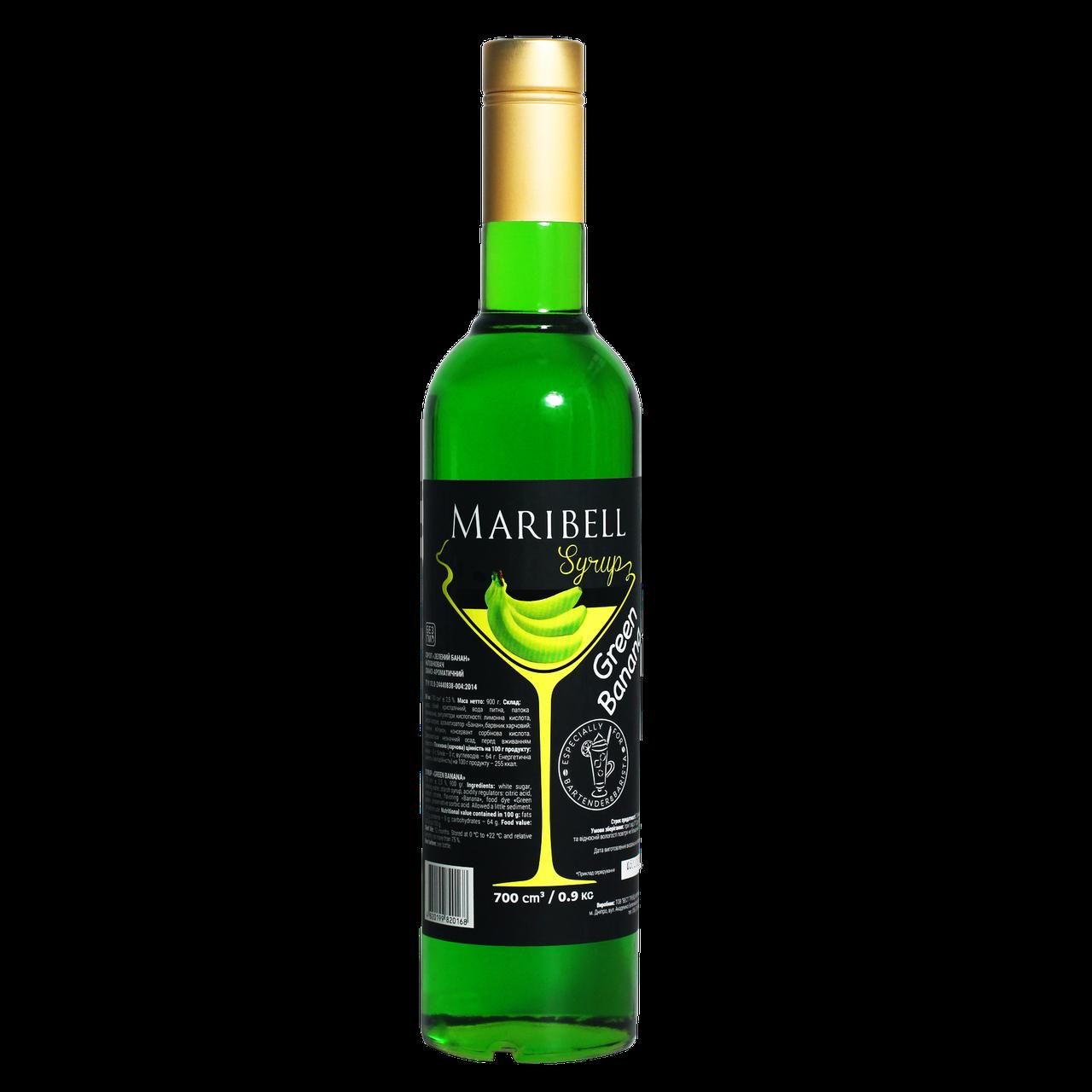 "Сироп коктейльний Maribell ""Зелений банан"" 700мл"