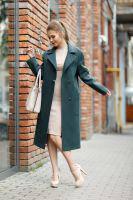 Женское пальто прямого силуэта. Лучиана бискайский залив