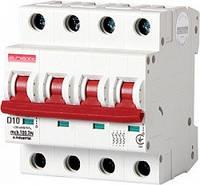 Модульный автоматический выключатель e.industrial.mcb.100.3N.D10 3р+N 10А D 10кА