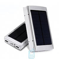 Power Bank Xiaomi 25000 mAh Solar + LED панель серебристый