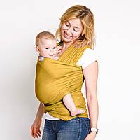 """Слинг-шарф трикотажный """"Мед"""" для новорожденных Love and Carry Переноски для детей слінг не Кенгуру"""