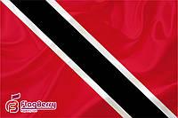 Флажок Тринидада и Тобаго 13,5*25 см., плотный атлас