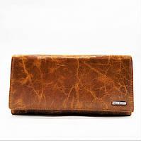 Практичный кожаный кошелек желтовато-коричневого цвета BUR-008081, фото 1