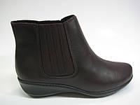 Кожаные ботинки c бордовым оттенком ТМ Inblu