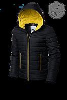 Мужская черная демисезонная куртка MOC (р. 46-56) арт. 968F