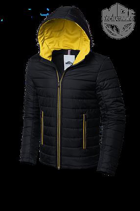 Мужская черная демисезонная куртка MOC (р. 46-56) арт. 968F, фото 2