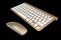 Беспроводная клавиатура в стиле Apple + Мышь c русскими буквами