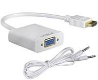 HDMI на VGA адаптер конвертер видео + аудио 1080P
