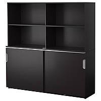 IKEA GALANT Шкаф для документов, черно-коричневый  (691.846.00)