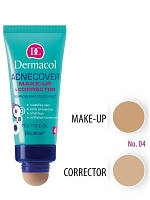 Dermacol Make-Up Acnecover and Corrector Тональный крем с корректором для проблемной кожи, Тон № 4