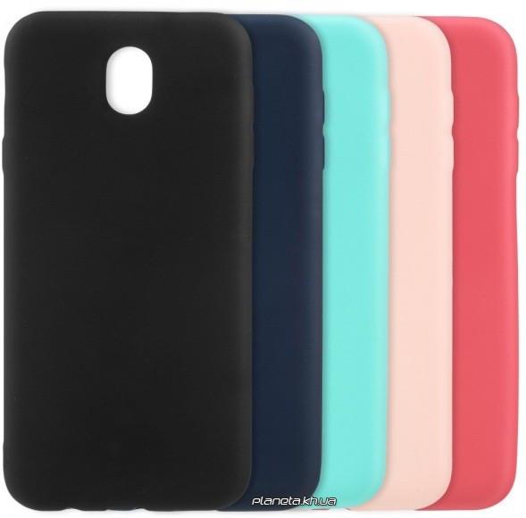 Soft Feel силиконовый чехол-накладка для Samsung J3 2017 J330 черный