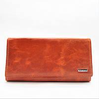 Практичный кожаный кошелек рыжего цвета BUR-008083