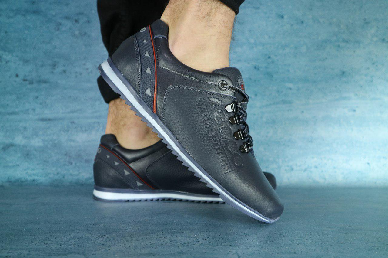 8d2c16bf0 Мужские кроссовки Ecco синие топ реплика - Интернет-магазин обуви и одежды  KedON в Киеве
