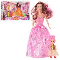 Лялька з вбранням 8865D, з донькою, трюмо, 2 види, кор., 65,5-33,5-7 см