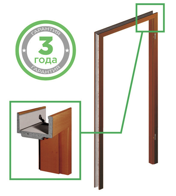 """Дверна регульована коробка для міжкімнатних дверей Verto-FIT Comfort """"VERTO"""""""