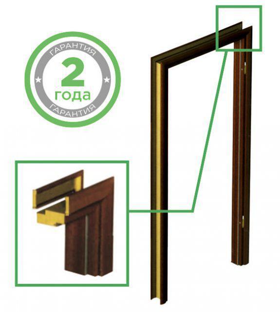 """Дверна не регульована коробка для міжкімнатних дверей Standard D80 """"VERTO"""""""