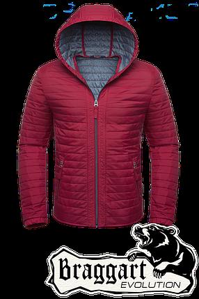 Мужская красная демисезонная куртка Braggart (р. 46-54) арт. 1295А, фото 2
