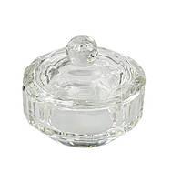 Стаканчик для мономеру з кришкою круглий скляний, 20мл