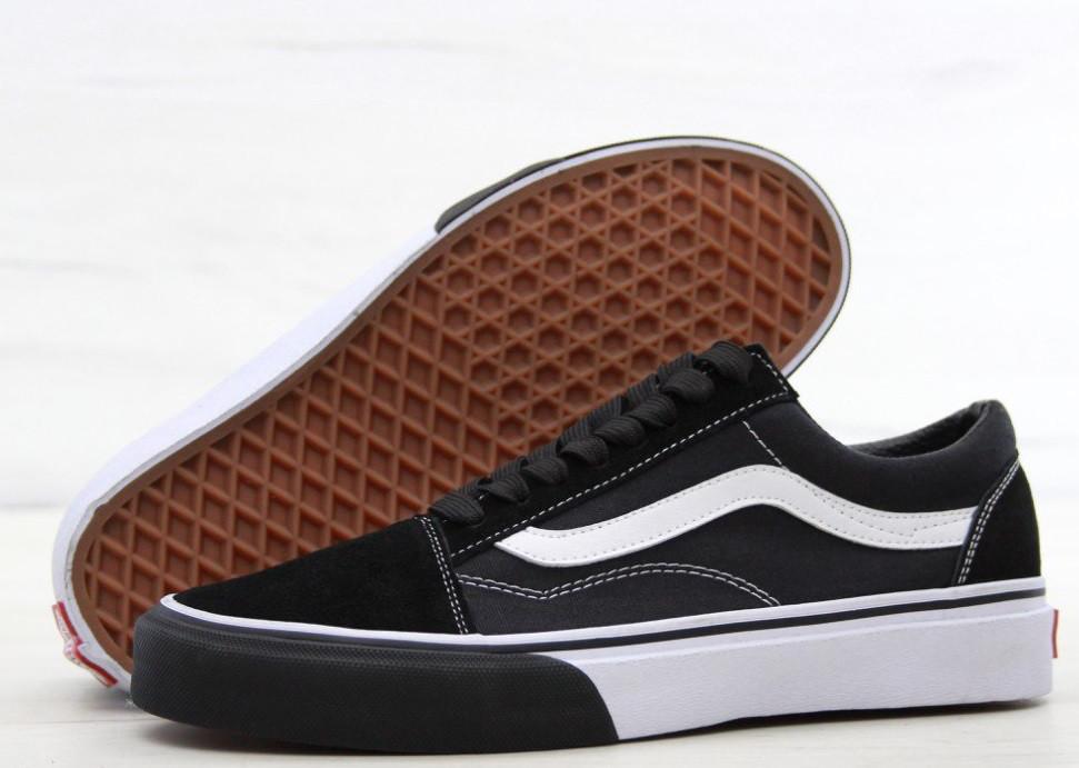 Кеды Vans Old Skool (black/white). Живое фото (Реплика ААА+)
