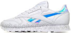 Кросівки жіночі рибок Reebok Classic Leather Iridescent White