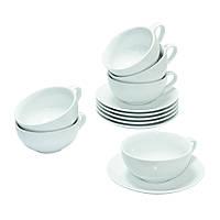 Чайный набор на 6 белых чашек ХОРЕКА Белый чай