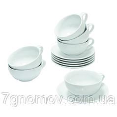 Чайный набор на 6 белых чашек Нежность
