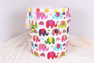 Корзина для игрушек со слониками