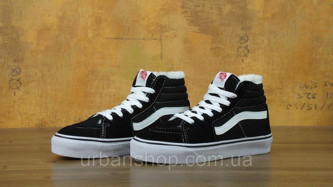 4ced267c09 Купить Кеды Vans SK8 - Hi. Winter Edition Black White