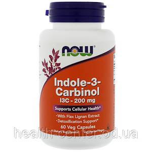 Индол 3-карбинол 200 мг 60 капс лечение папилломатоза гормонзависимых опухолей у женщин Now Foods