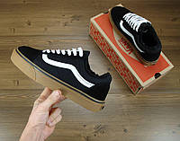 Кеды Vans Old Skool Winter Edition Black Gum, зимние вансы с мехом, фото 1