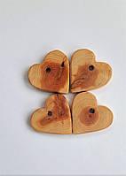 """Можжевеловый грызун-кулон """"Сердце"""" (для поделок), имеют сучки и шероховатости, фото 1"""