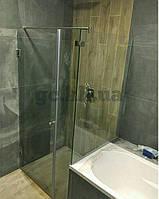Душевая перегородка угловая (крепление двери к стене с фронтальной частью)
