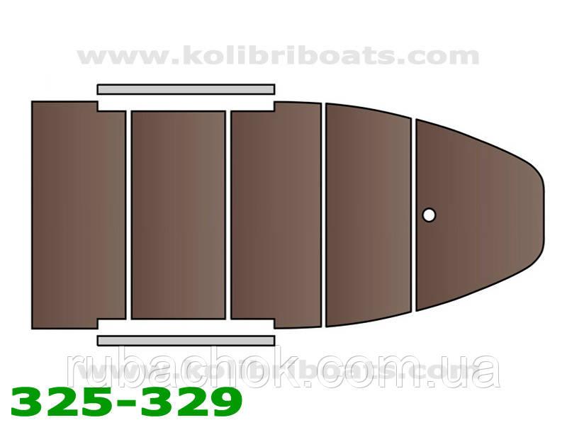 Пайол фанерный с стрингерами КМ-330D (настил, стрингера, сумка), коричневый.