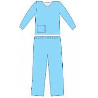 Костюм медичний стерильний з довгим рукавом розмір 54-56  (ХL)