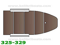 Пайол фанерный с стрингерами КМ-300D (настил, стрингера, сумка), коричневый