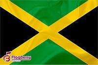 Флажок Ямайки 13,5*25 см., плотный атлас