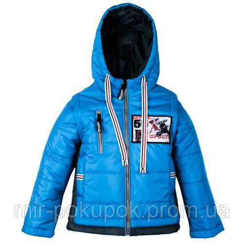 Демисезонная куртка-жилетка для мальчика 55, фото 1