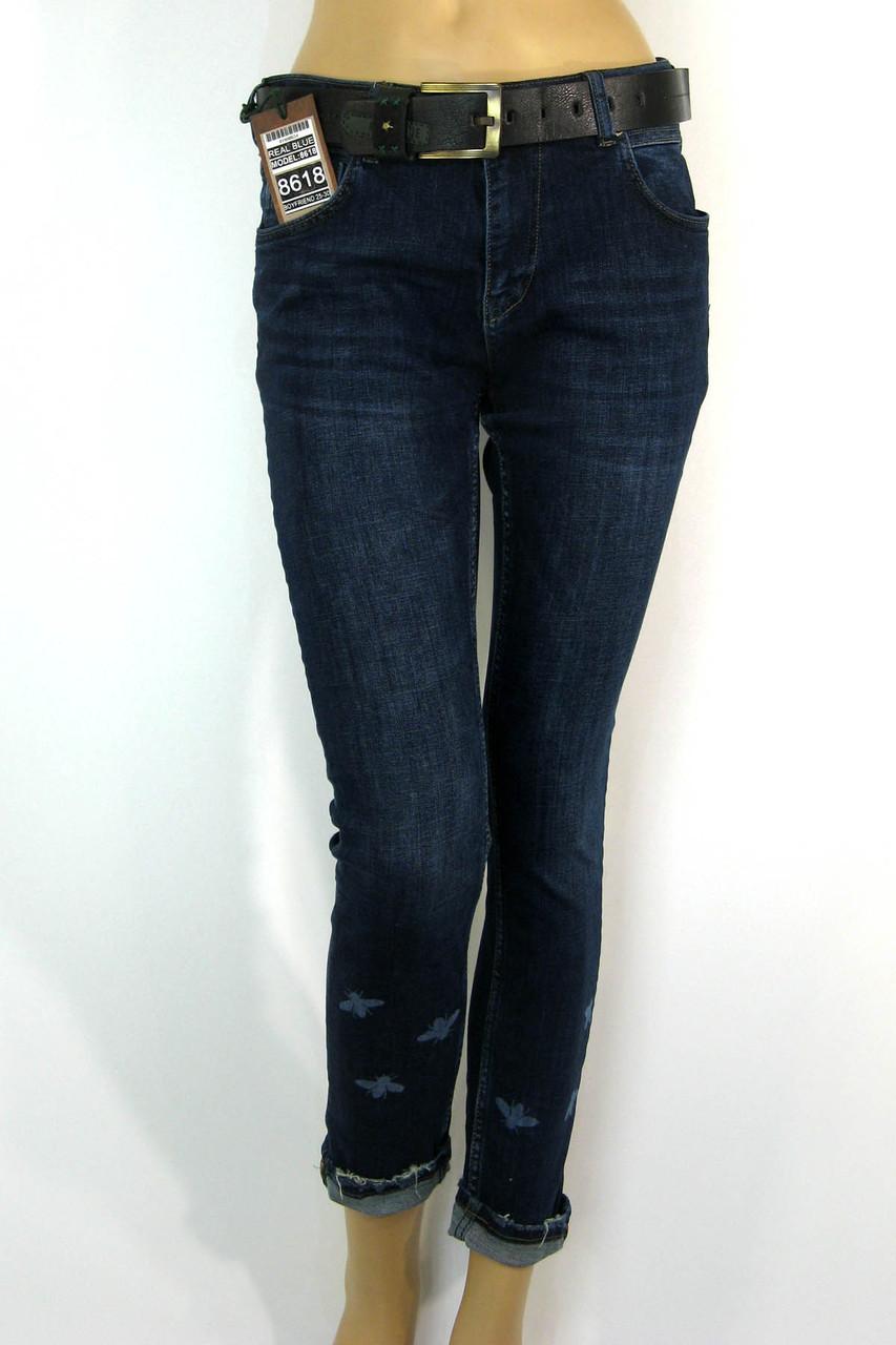 Жіночі джинси  boyfriend Real Blue