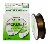 Леска Globe Power Pro-Type 100м, Ø0.18мм, 5.2кг